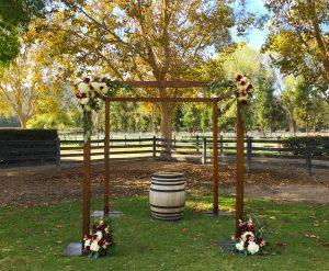 wood wedding chuppah