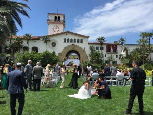 Santa Barbara Courthouse Wedding Ceremony